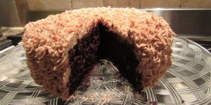 Terry's chocolate orange cake, rosettes, chocolate orange buttercream